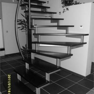 metalowe schody